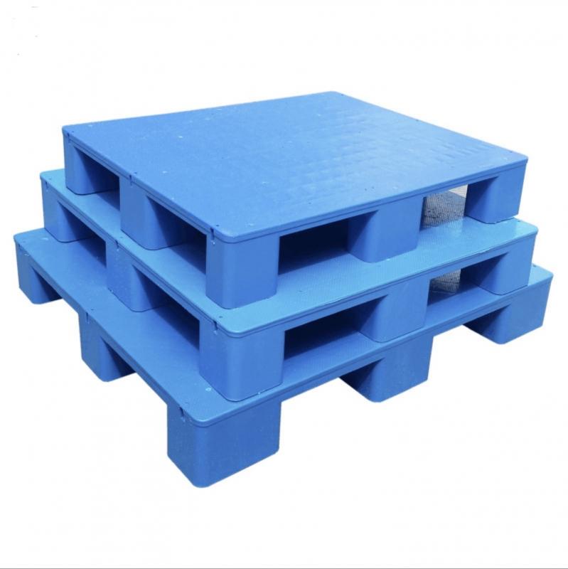 平板九脚塑料货物托盘